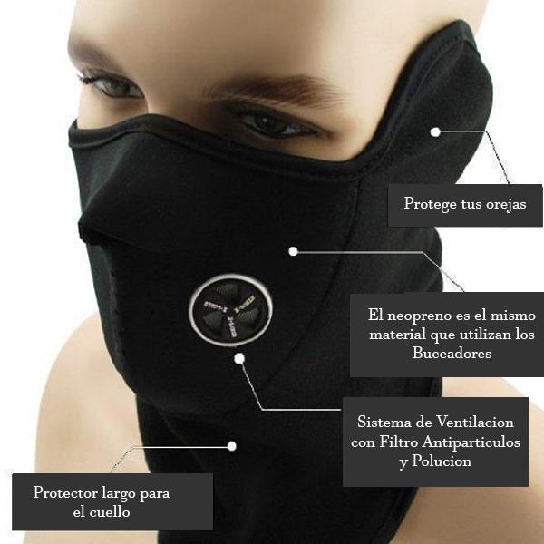 partes de una mascara de neopreno